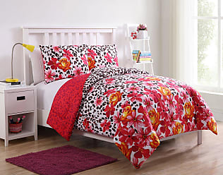 VCNY Nikki Floral Leopard Reversible Comforter Set by VCNY Home, Size: Full,Twin - NIK-2CS-TWIN-IN-MU