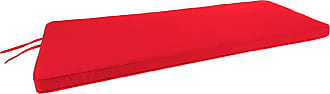Jordan Manufacturing Company Deluxe Sunbrella Rounded Swing/Bench Cushion, 41-3/4 x 18-3/4, Red