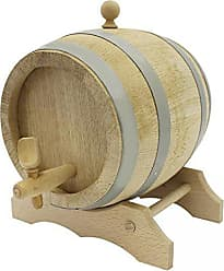 Paderno World Cuisine A4982268 Oak Barrel with Spigot and Stand, Beige