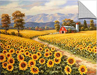 Brushstone Sung Kim Red River Sunflower Farm Gallery Wrapped Canvas, 24X32
