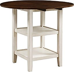 Homelegance Kiwi Counter Height Drop Leaf Table, White