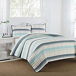 Westpoint Home IZOD Radford Stripe Quilt Set, Twin, Aqua 2 Piece