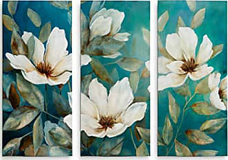 WEXFORD HOME Shade of Blue 3 Panel Wall Art Canvas Print, 32x 48