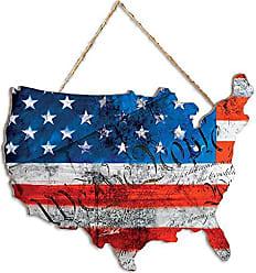 Trendy Decor 4 U Trendy Decor4UWTP (We The People) American Flag Wall Art Red/White/Blue