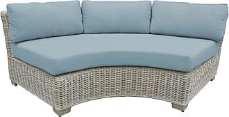TK Classics Outdoor TK Classics Coast Curved Armless Sofa Orange - TKC038B-CAS-DB-TANGERINE