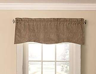 Ellery Homestyles Beautyrest Barrou 52 x 18 Short Valance Small Window Curtains Bathroom, Living Room and Kitchens, Taupe, 52x18