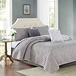 Sweet Home Collection Decorative Fashion Set Includes Quilt with Shams and More! and More, Queen, Gray, 5 Piece
