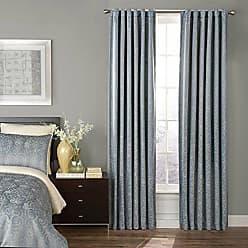 Ellery Homestyles Beautyrest Avignon Blackout Window Curtain, 52 x 63, Smokey Blue