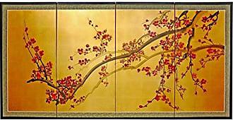 Oriental Furniture Plum Tree on Gold Leaf - 36