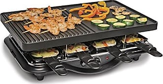 Hamilton Beach 31612-MX Raclette Indoor Grill, 200 Square Inch Nonstick, Black
