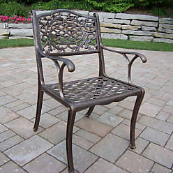 Oakland Living Outdoor Oakland Living Mississippi Cast Aluminum Arm Chair - Antique Bronze, Patio Furniture - 2012-AB