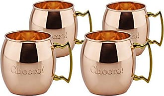 Old Dutch International OS495 Solid Cheers! Moscow Mule Mugs (Set of 4), 16 oz, Copper