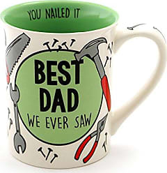 Enesco Our Name is Mud Best Dad Stoneware Coffee Mug, 16 oz