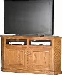 Eagle Furniture Classic Oak Customizable 56 in. Corner Entertainment TV Stand - 46744WPLT