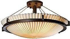 Justice Design Group Porcelina Semi-Flush Bowl Suspension