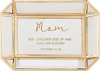 Creative Brands CB Gift Treasured Reflections Tabletop Décor, Mom -Proverbs 31:28