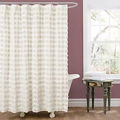 Lush Décor Emma Shower Curtain, 72 by 72-Inch, Ivory