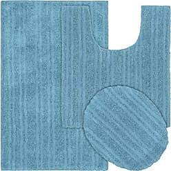 Garland Rug BA330W3P02CC5 Grand Isle Bath Rug 3-Piece Set Blue Bird