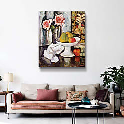 Brushstone Bowl of Fruit and Vase of Pink Roses Wall Art - 1HUN001A0810F