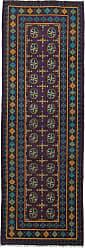 Nain Trading Oriental Afghan Akhche Baghlan Rug 81x28 Runner Brown/Dark Blue (Wool, Afghanistan, Hand-Knotted)