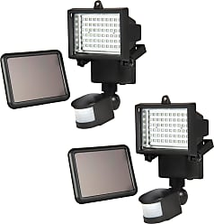 Best Choice Products 2-Pack Outdoor Solar Flood Lights w/ Motion Sensor - Black