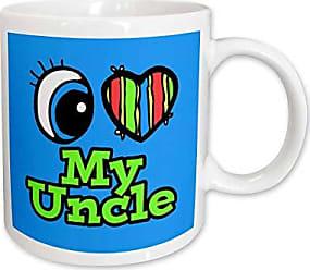 3D Rose mug_106321_1 Bright Eye Heart I Love My Uncle Ceramic Mug, 11-Ounce