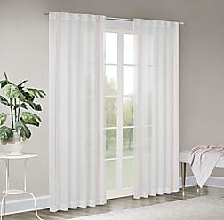 Madison Park Terra Border Embroidered Rod Pocket Back Tab Window Sheer Voile Panel for Bedroom Gauze Curtain for Living Room and Dorm, 50 W x 63 L, Blush