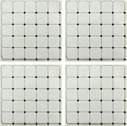 RoomMates Black and White Diamond StickTILES Wall Decals - Set of 4 - TIL3462FLT