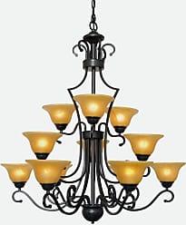 Harrison Lane J2-1053 12 Light 36 Wide 3 Tier Chandelier with Yellow