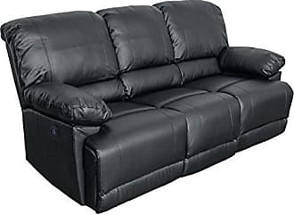 CorLiving LZY-302-S Lea Collection Reclining Sofa Black