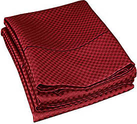 Superior Cotton Blend 800 Thread Count Jacquard Weave Micro-checkers Wrinkle Resistant Standard Pillowcase Pair, Burgundy