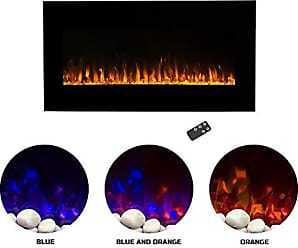 Trademark Northwest Electric Fireplace Wall Mounted LED Fire and Ice Flame, with Remote 42 inch, 42 Midnight