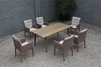 Harmonia Living Outdoor Harmonia Living Torrey Wicker 7 Piece Patio Dining Set - HL-TOR-SD-7DS