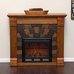 Southern Enterprises Elkmont Salem Antique Oak Electric Fireplace - FA9282E