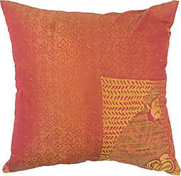The Pillow Collection Uri Graphic Orange Down Down Filled Throw Pillow