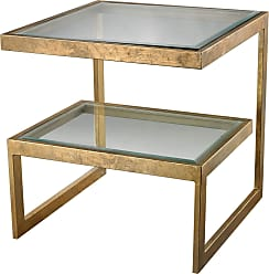 Dimond Home Gold Leaf Key Side Table