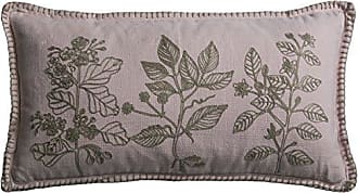 Rizzy Home One of a Kind Flora Embroidery Decorative Pillow, Pink