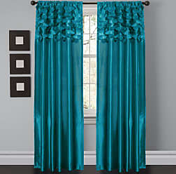 Lush Décor Circle Dream Window Curtains Panel Set for Living, Dining Room, Bedroom (Pair), 84 x 54, Turquoise