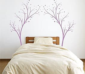 The Decal Guru Large Star Tree Vinyl Decal - Decor Wall Sticker for Baby Nursery or Kids Room Home Design Transfer (Lilac, 80x99 inches)