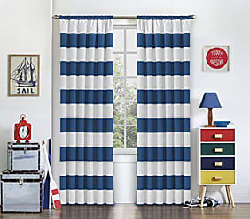 Ellery Homestyles ECLIPSE Blackout Curtains for Bedroom - Peabody 42 x 84 Insulated Darkening Single Panel Rod Pocket Window Treatment Living Room, Blue
