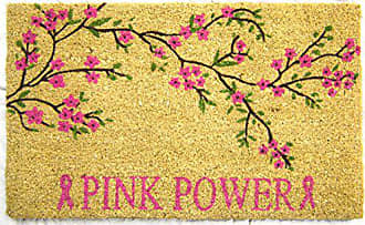 Geo Crafts Vinyl Back Power Doormat, Pink