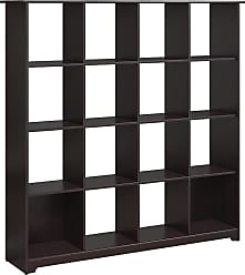 Bush Furniture Furniture Espresso Oak Cabot 16 Cube Bookcase