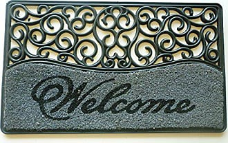 Geo Crafts Rubber Back Rubcor Welcome Doormat, 18 by 30-Inch