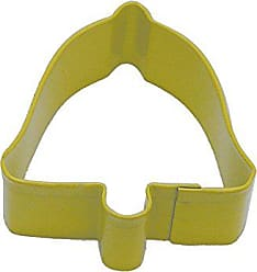 CybrTrayd R&M Bell 2.5 Cookie Cutter Yellow with Brightly Colored, Durable, Baked-on Polyresin Finish
