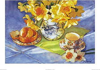 Buyartforless Buyartforless Daffadills & Orange by Deborah Chabrian 5x7 Poster
