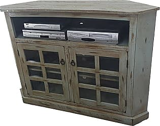 American Heartland 57 in. Rustic Corner TV Cart - Assorted Finishes - 30743RAMGPQS