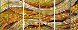 Omax Decor OMAX Decor Interwoven Spirals Wall Art - Set of 6 - MY3004