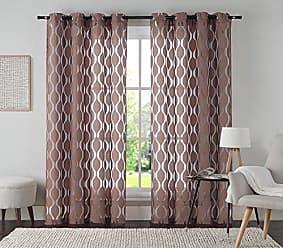 VCNY Home VCNY Home Aria Window Curtain, 54x108, Chocolate