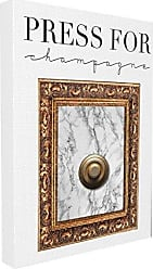 Stupell Industries Stupell Home Décor Press Button For Champagne Oversized Stretched Canvas Wall Art, 24 x 1.5 x 30, Proudly Made in USA