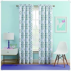 Ellery Homestyles WAVERLY Kids Ipanema Blackout Single Window Curtain Panel, 42x63, Aqua